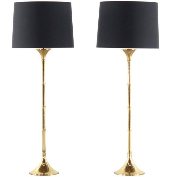 Ingo Maurer Bamboo Floor Lamps Model ML